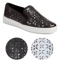 Michael Kors MK Women's Premium Designer Keaton Slip On Leather Sneakers... - $116.95