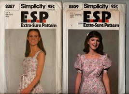 8509 8387 lot 2 vintage sewing pattern Sundress and dress sizes 8,10, 12 - $10.00