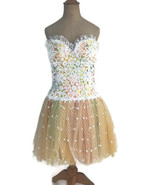 Vintage 1980s Bob Mackie Women's Ballerina Lace Tulle Cocktail Party Dre... - $116.83