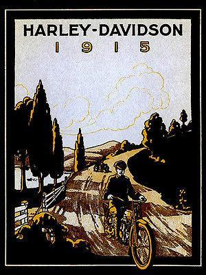 Primary image for 1915 Harley - Davidson Promotional Advertising Poster