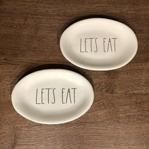 """Rae Dunn LL """"LET'S EAT"""" Small Oval Plates - Set of 2 - $24.24"""