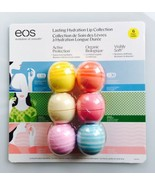 EOS Lip Balm 6 Pack Lasting Hydration Lip Collection Organic, SPF & Visibly Soft - $23.10