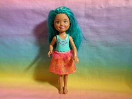 2014 Mattel Barbie Chelsea Dreamtopia Sprite Doll Teal Hair  - $5.32