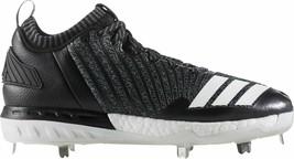 Adidas Mens Boost Icon 3 Metal Baseball Cleats Black Knit WhiteDB1793 Size 13 - $31.67