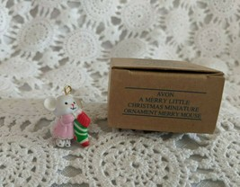 Avon A Merry Little Christmas Miniature Ornament Merry Mouse - $7.75