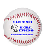 Personalized Custom Class of 2020 Graduation Baseball Gift Blue Text - $34.95