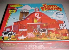 Melissa & Doug Farm Friends 32 Jumbo Pieces Floor Puzzle New - $14.84