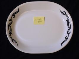 Corelle Platter LYRICS BLACK Oval Serving Platter 12 inch - $15.83