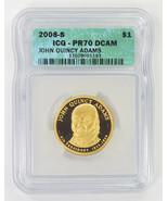 2008-S $1 John Quincy Adams Presidential Dollar ICG PR70 DCAM - $13.00