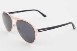 Tom Ford BRADBURY Shiny Rose Gold / Gray Sunglasses TF525 28A - $165.62
