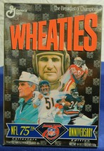 Wheaties NFL 75th Anniversary Edition empty Cereal Box Don Shula Dick Bu... - $8.31