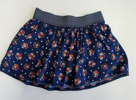 Justice Girls' Size 10 Skort Short Skirt Navy Blue Floral White Polka Dots - $12.00