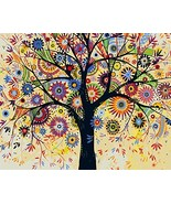 DIY PBN-paint by numbers Abstract Tree-4 16-by-20 inches Frameless. - $17.49