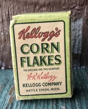 Vintage Kellogs Corn Flakes Cereal Box RARE - $20.89