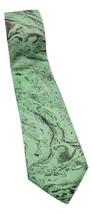 Harmonie Hand Marbled 100% Pure Silk India Men's Necktie Green Marble - $17.34