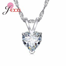 Fashion 925 Sterling Silver Necklaces For Women Engagement Party lovers Lovely H - $9.73