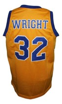 Monica Wright #32 Crenshaw Love And Basketball Jersey New Sewn Yellow Any Size image 5