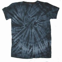 YOUTH SIZE LARGE BLACK SPIDER TIE DYED SHORT SLEEVE TEE SHIRT hippie kid... - $6.27