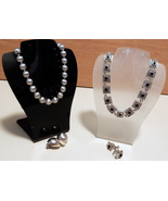 Vintage Napier Silver tone Necklace & Earrings 6 pieces  - $20.00