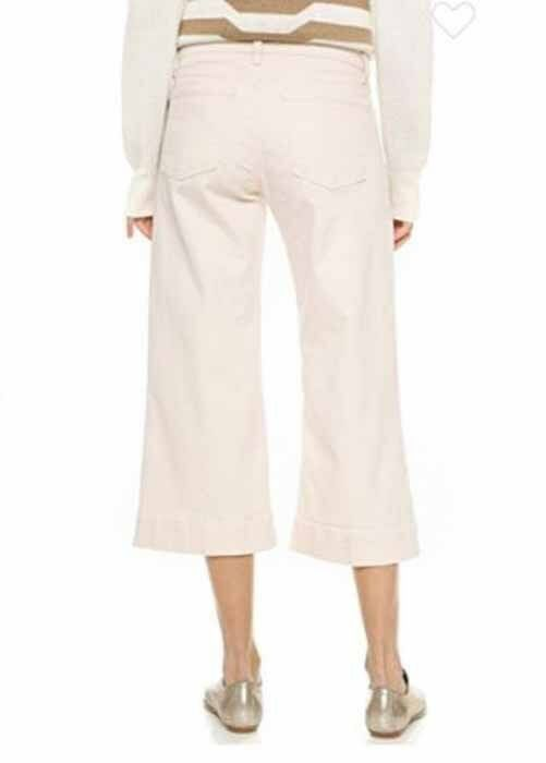 NWT J BRAND Liza Culotte Wide Leg Cropped Jeans In Mystify (Natural) Size 30 image 2