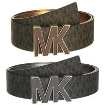 Michael Kors Women's Premium MK Logo Signature Plaque Faux Leather Belt 553504 - $37.95