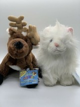 WEBKINZ Plush Persian Cat HM110 & Reindeer HM137 Stuffed Toys New Sealed Codes - $14.63