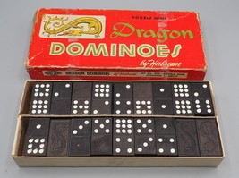 Vintage Dragon Dominoes by Halsam No. 920 Double Nine 54 Pieces - $6.92