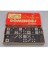 Vintage Dragon Dominoes by Halsam No. 920 Double Nine 54 Pieces - $6.92