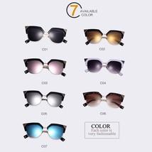 Designer Coating Mirrors Cat Eye Sunglasses Women Metal Bending Temple E... - $13.98