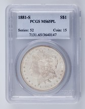 1881-S $1 Silver Morgan Dollar Graded by PCGS as MS65PL! Gorgeous Proof-... - $326.69