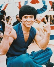 Jackie Chan 16X20 Canvas Giclee Cool Pose Victory Sign - $69.99