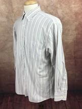 Chaps Ralph Lauren Classic Fit Oxford Multi-Stripe Shirt Men's 16-16.5 3... - $10.17