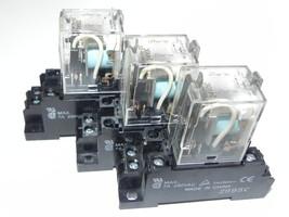 LOT OF 3 OMRON MY2N-D2 RELAY 24VDC W/ BASE SOCKET 2995C