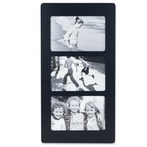Lawrence Frames Black Wood 6x4 Multi Triple Horizontal Picture Frame - $21.03
