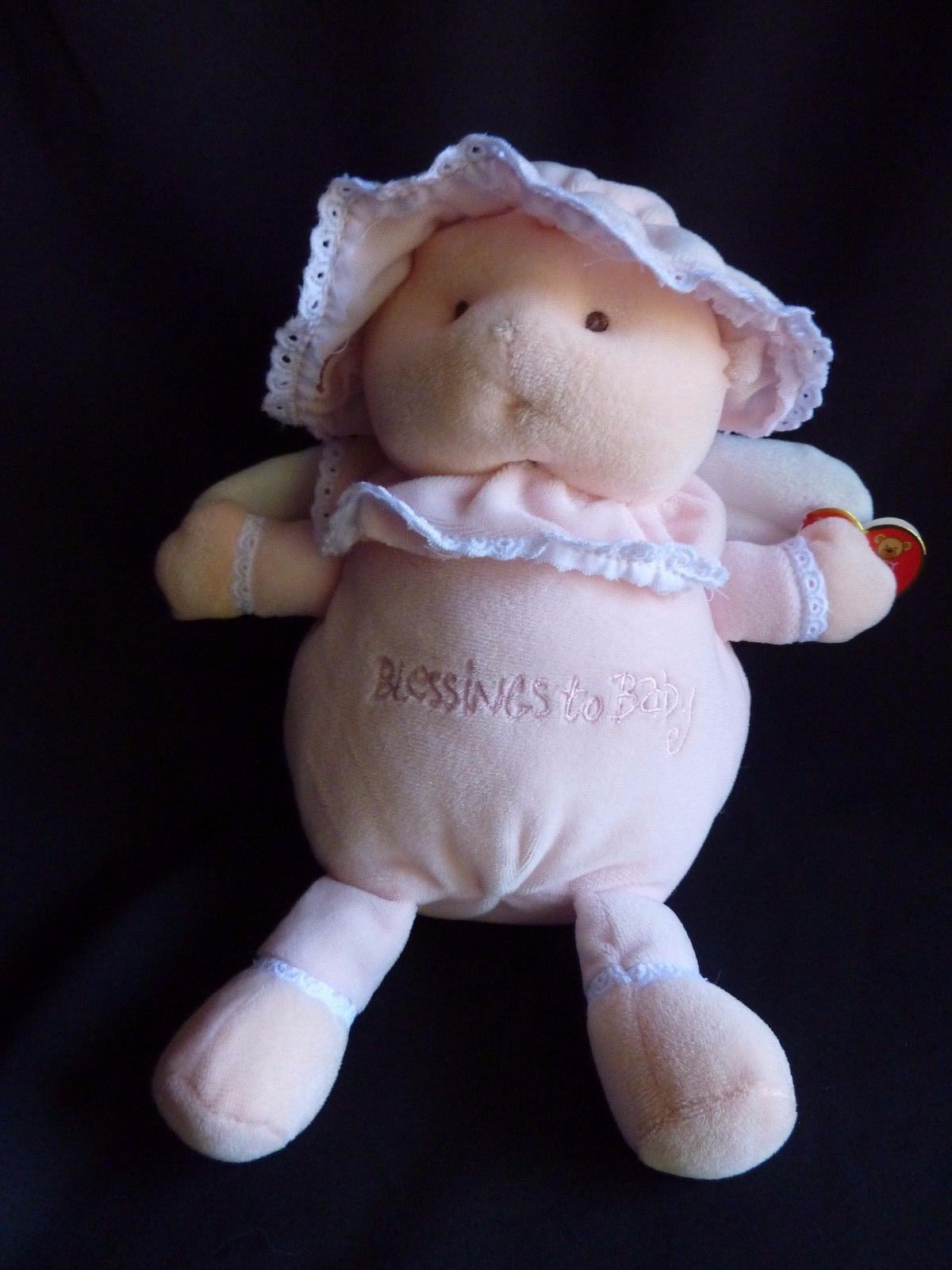 Primary image for Ty Pluffies BLESSINGS TO BABY *Pink Baby Girl 2004 Plush Pluffy Beanie Sewn Eyes