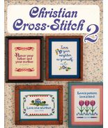 Christian Cross Stitch 2 Inspirational Sampler Praise The Lord 10 Patter... - $12.99