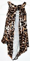 Pretty Little Thing Women's Leopard Animal Print Open Neck Wrap Crop Top Size 4 image 2