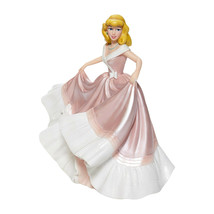 "7.75"" Tall Cinderella in Pink Dress Figurine Celebrating 70th Anniversary Disney image 2"