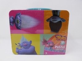 Cardinal Dreamworks Trolls Puzzle in Lunch Box Tin - New - 24 Piece - $16.14