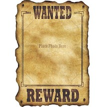 Western Wanted Sign slotted to hold 8 x10 photo Party Accessory  1 count - $16.32