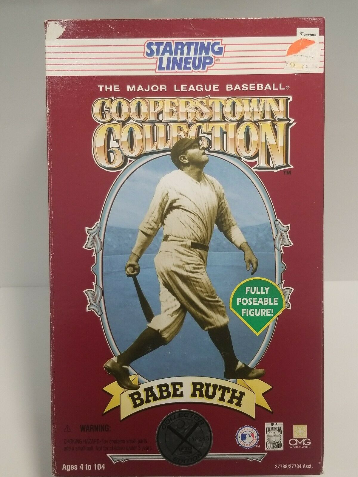 Primary image for Babe Ruth New York Yankees 12 inch Fully Poseable Starting Lineup Figure NIB MLB