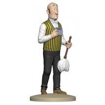 Nestor with a feather duster polyresin figurine Official Tintin product