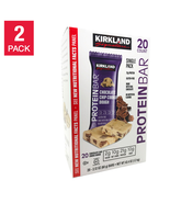 2 Pack Kirkland Signature Protein Bars Chocolate Chip Cookie Dough 40 Bars - $52.46