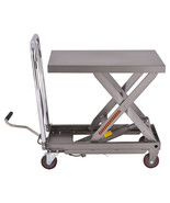 500 lb Capacity Rolling Table Hydraulic Cart w/Foot - $282.50