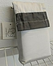 king size (2) pillowcase 20x40'' 300 thread GRAY/GREY proyect 62 new with tags. image 1