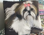 SHIH TZU PRINTED PILLOW FROM MONIQUE'S BEST SHIH TZU PAINTING