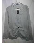 Allegra K Suit Jacket Blazer Gray Heathered Notch Lapel Pockets L 44 New - $35.63