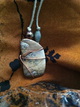 Picture Jasper Wire Wrapped Necklace - $35.00