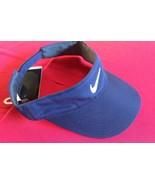 Nike Dri Fit Navy Blue White Swoosh Logo Running Visor NEW - £14.50 GBP
