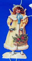 Christmas Ornaments Repro Victorian Scrap Angels image 3
